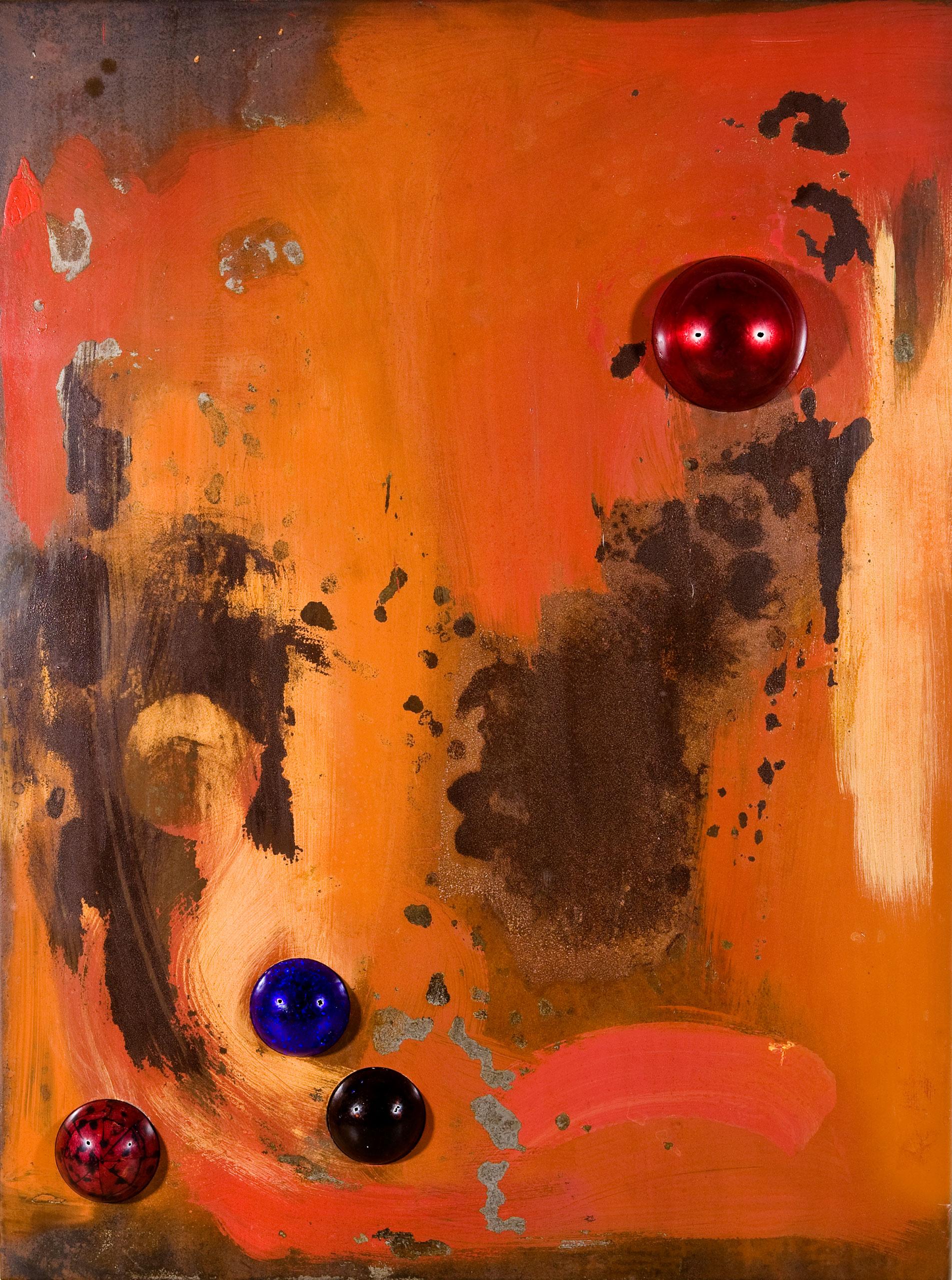 Vintage Modern Orange v.02 by Jacqueline Gilmore
