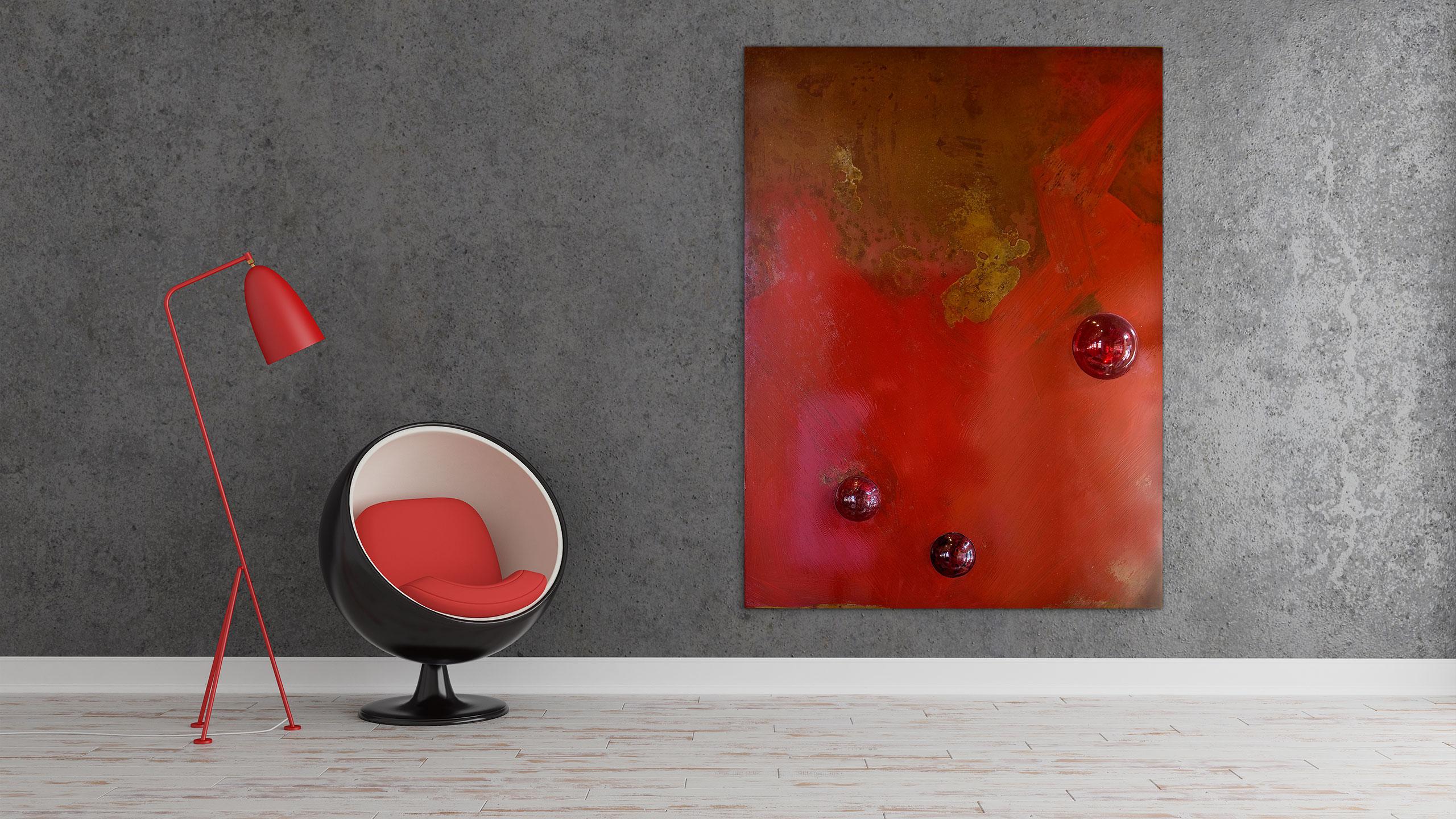Vintage Modern Red v.04 by Jacqueline Gilmore